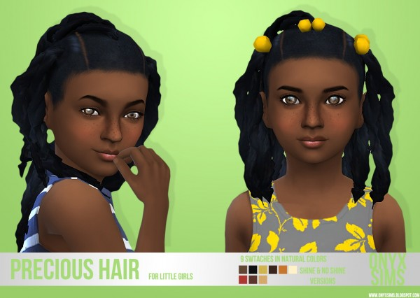 Onyx Sims: Precious Ponytails Hair