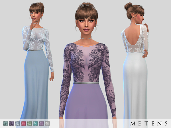 The Sims Resource: Versailles Dress by Metens
