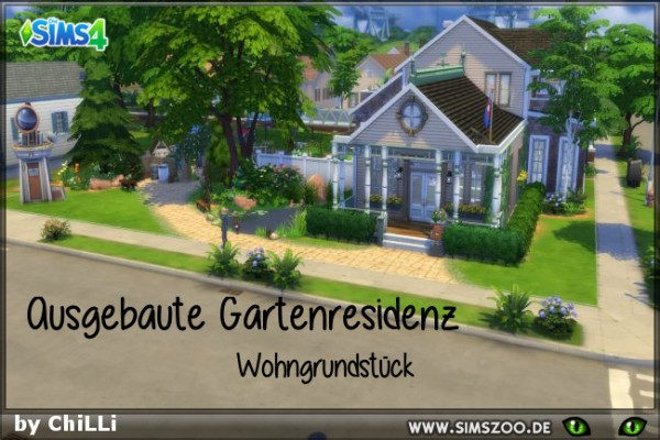 Blackys Sims 4 Zoo: Garden Residence by ChiLLi