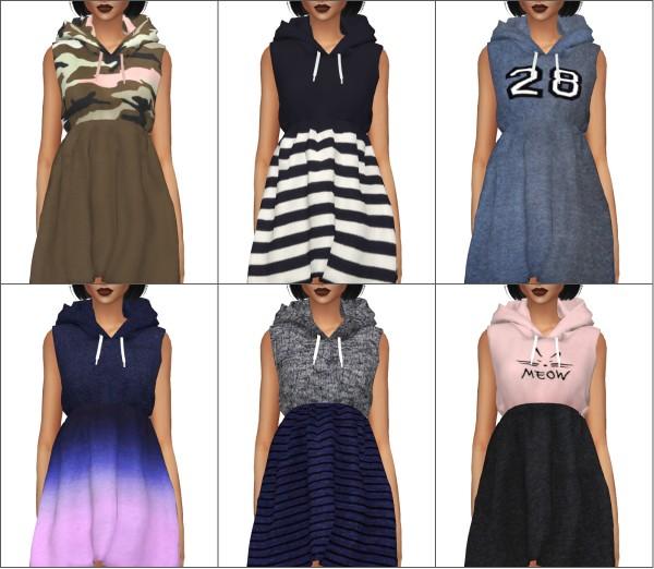 Kenzar Sims: Hoodie dress