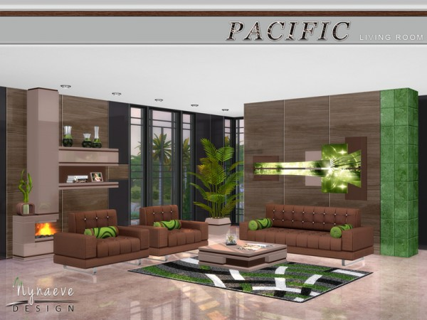 The Sims Resource: Pacific Heights Livingroom by NynaeveDesign