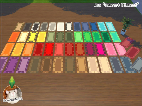 Simsworkshop: Rug Concept Diamond by Standardheld