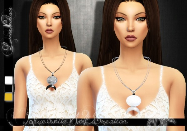 Simsworkshop: Lunar Necklace by Blue8white