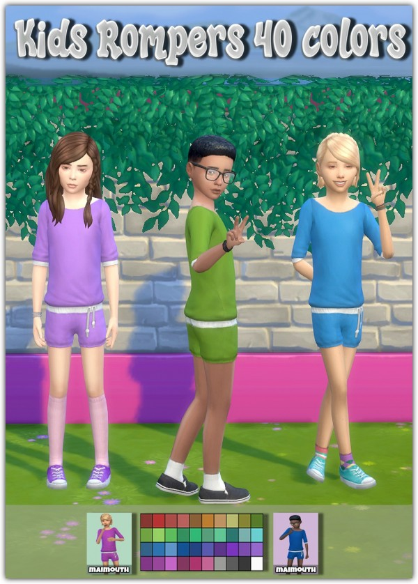 Simsworkshop: Kids Rompers  40 colors by Maimouth
