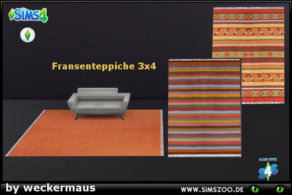 Blackys Sims 4 Zoo: Rug 03 by weckermaus