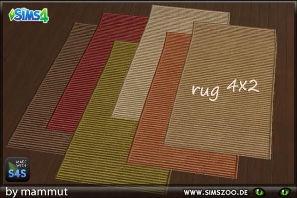 Blackys Sims 4 Zoo: Sisal rugs 4x2 by mammut