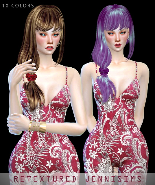 Jenni Sims: Butterflysims114, Newsea Dracarys Hairs retextures