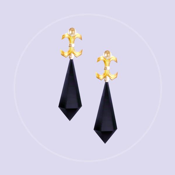 Simsworkshop: Black Lady Earrings