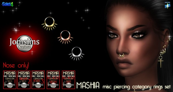 Jom Sims Creations: Mashia misc piercing set