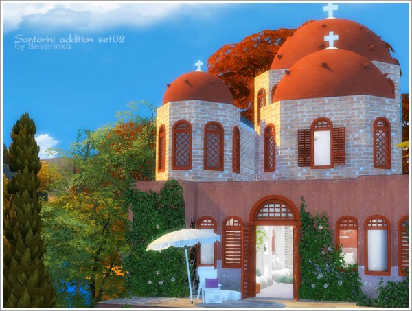 Sims by Severinka: Santorini addition set 02