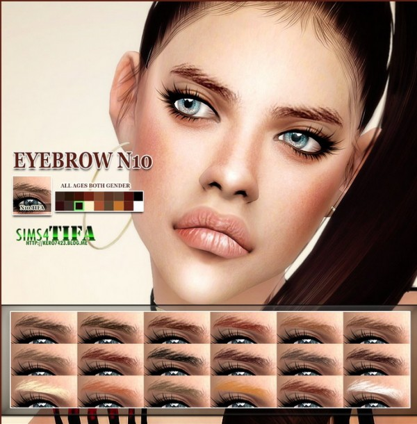 Tifa Sims: Eyebrows N10