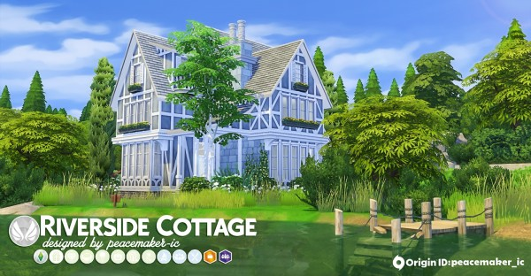 Simsational designs: Riverside Cottage