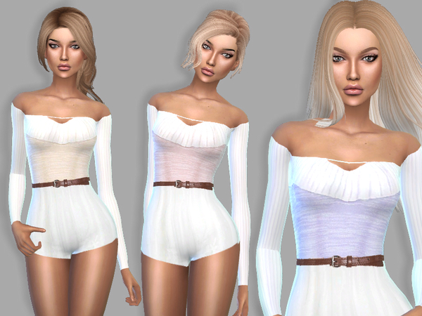 The Sims Resource: Cute Bodysuit by Puresim