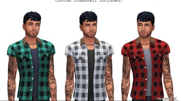 Simista: Short Sleeve Flannel Shirts