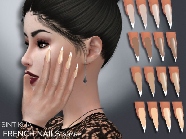 The Sims Resource: French sharp nails by Sintiklia