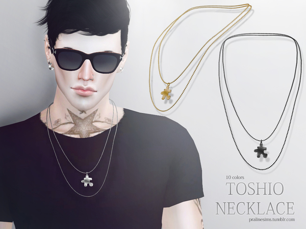 The Sims Resource: Toshio Necklace by Pralinesims