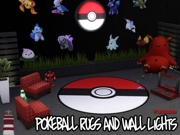 Akisima Sims Blog: Pokemon Carpets & Wall Lamps