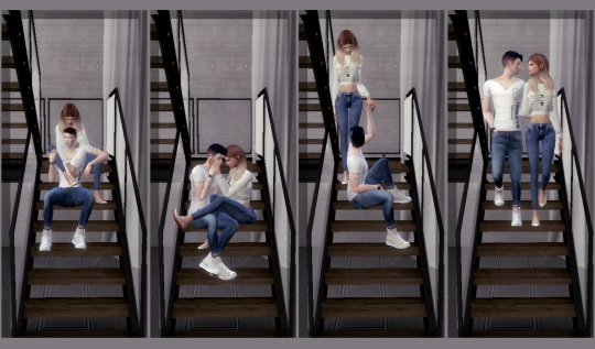 Simsworkshop: Couple Stair Pose Set 1 by ConceptDesign97