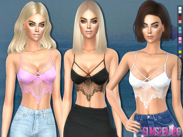 The Sims Resource: 194   Lace top by sims2fanbg