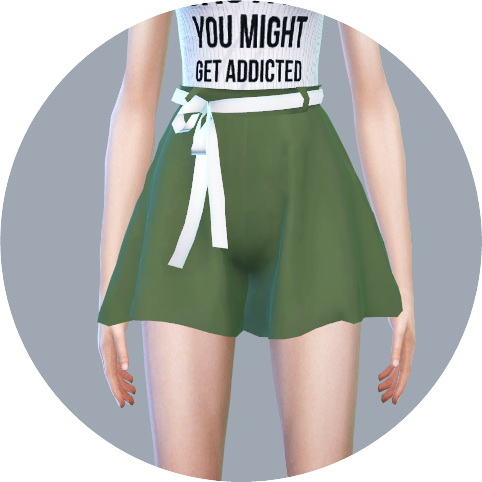 SIMS4 Marigold: Skirt Pants With Belt