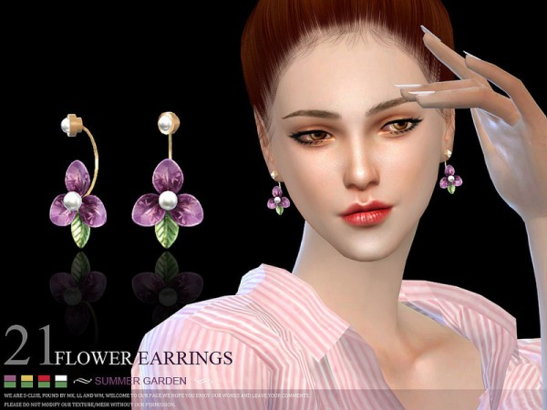The Sims Resource: Earrings 21 by S Club