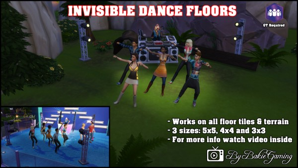 Mod The Sims: Invisible Dance Floors by Bakie
