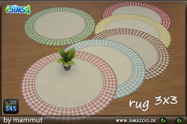 Blackys Sims 4 Zoo: Rug Round Diamonds