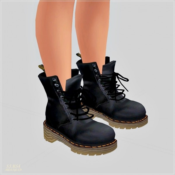 Sims4 Marigold Male Combat Boots Sims 4 Downloads