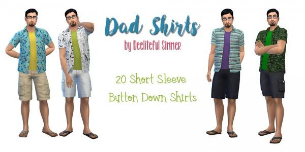 Simsworkshop: Dad Shirts by deelitefulsimmer