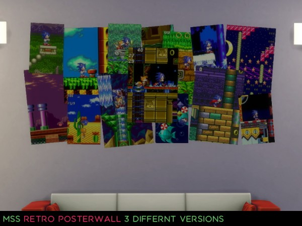 Simsworkshop: Retro Game Poster Wall by midnightskysims