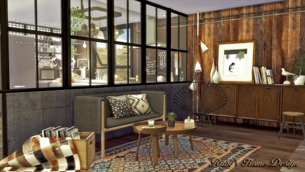 Ruby S Home Design Mid Century Industrial Loft Sims 4