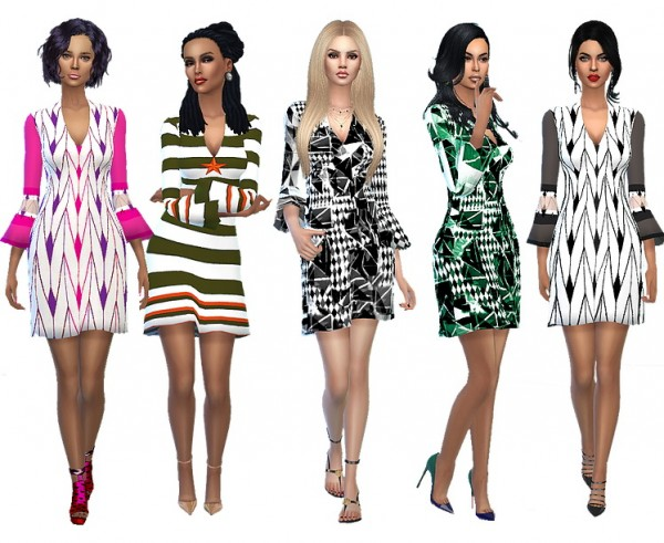 Dreaming 4 Sims: Independence day short dress