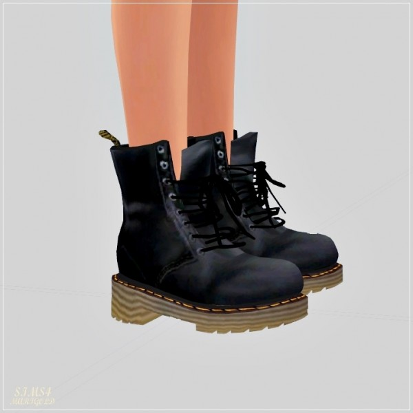 SIMS4 Marigold: Female Combat Boots