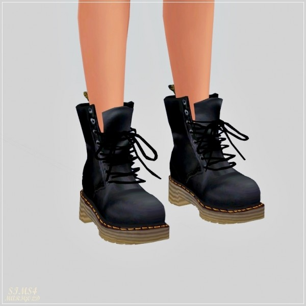 Sims4 Marigold Female Combat Boots Sims 4 Downloads