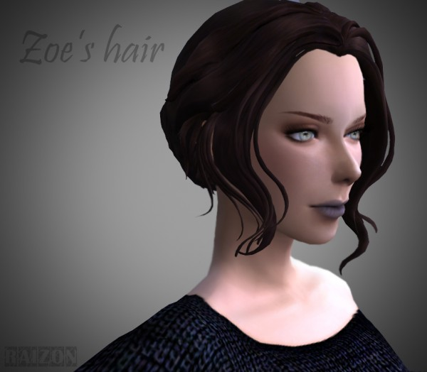 Rumoruka Raizon: Zoe's hair