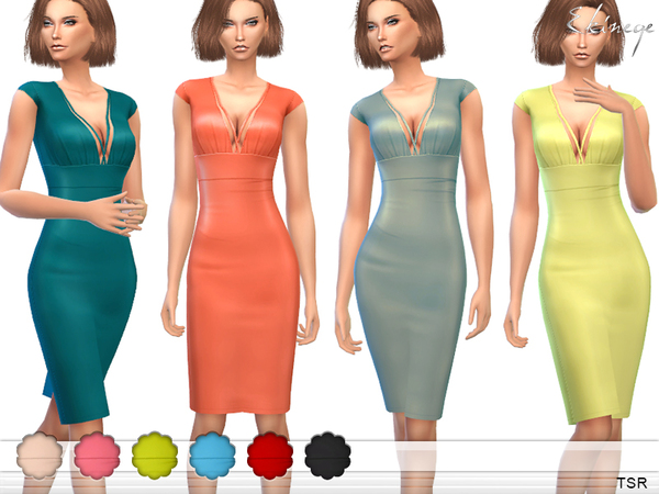 The Sims Resource: Cap Sleeve Harness Dress by ekinege