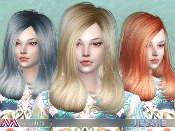 The Sims Resource: Jessie (Hair 13)