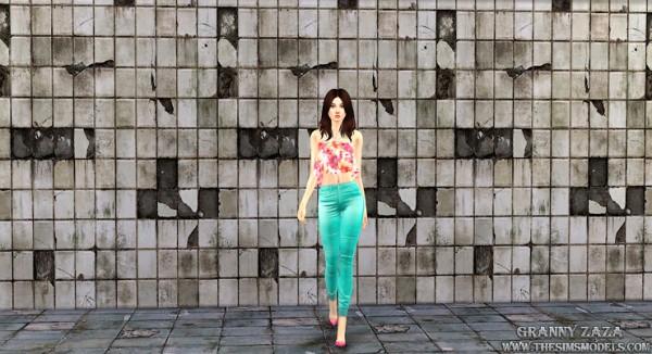 The Sims Models: Stone Walls by Granny Zaza