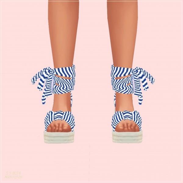 SIMS4 Marigold: Summer Ribbon Wedge Heels