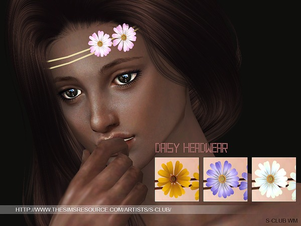 The Sims Resource: Daisy Headwear by S Club