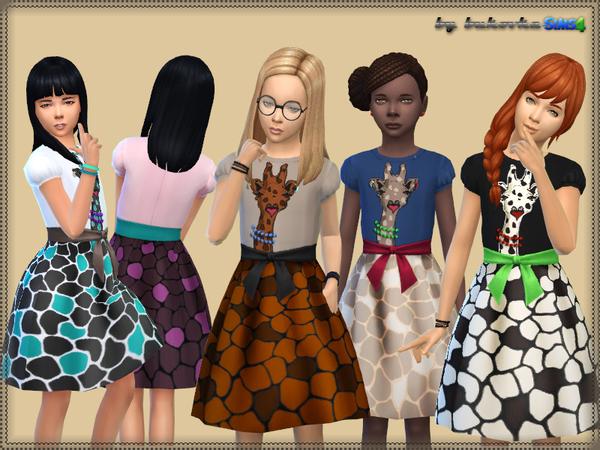 The Sims Resource: Dress Glamorous Giraffe by Bukovka