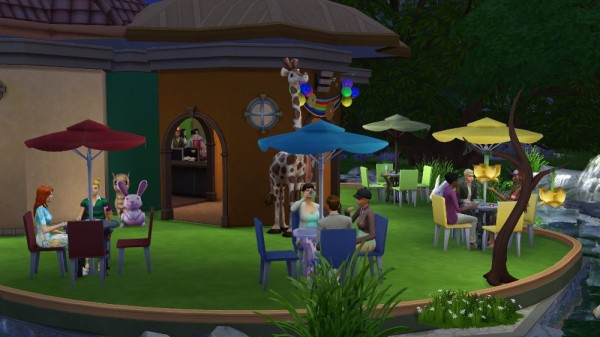 Ihelen Sims: Cafe Forest glade by fatalist