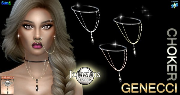 Jom Sims Creations: Genecci choker