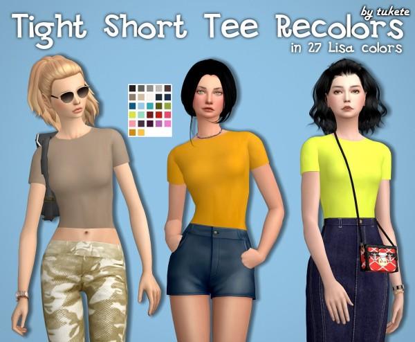 Tukete: Tight Short Tee Recolors