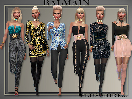 All About Style Balmain Outfits Sims 4 Downloads