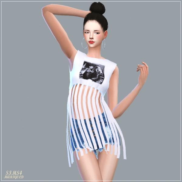 SIMS4 Marigold: Fringe Crop Top
