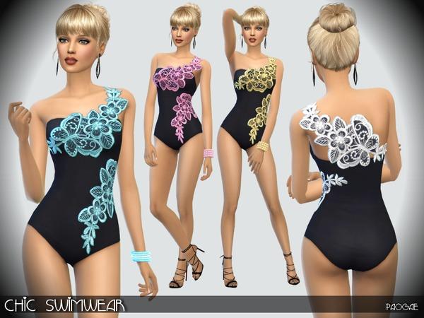 The Sims Resource: Chic Swimwear by Paogae