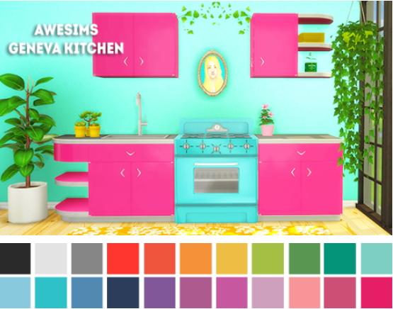 LinaCherie: Awesims geneva kitchen recolors
