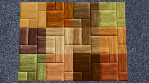 La Luna Rossa Sims: Criss cross Wooden Floor