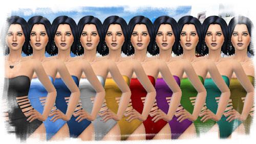 La Luna Rossa Sims: Fashionable Bathing Suit